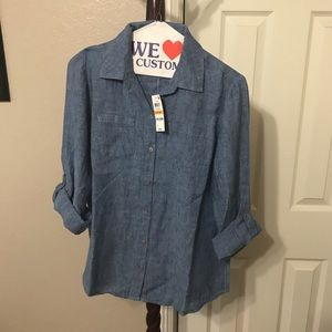 Charter Club button down chambray